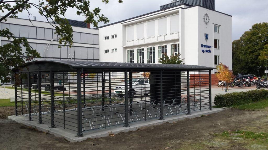 Drammen VGS sykkelparkeringshus