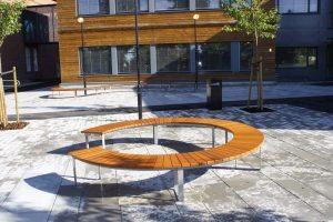 Høvik skole Optima buet Sirkel og S-form