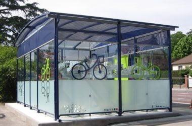 Sykkelparkeringshus Modulere 2 Etasjes. Herdet glass.