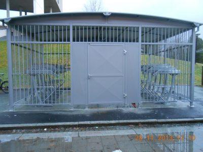 Sykkelparkeringshus Modulere 2 Etasjes. NTNU.