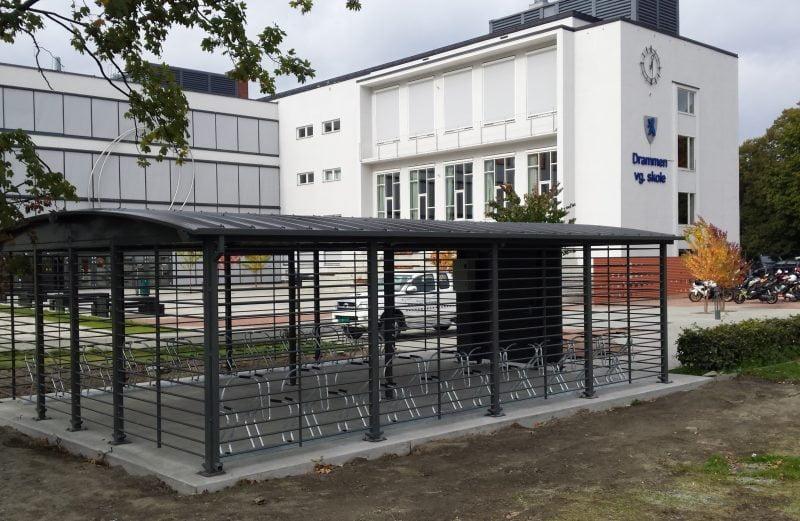 Sykkelparkeringshus Modulere 1 Etasjes Drammen VGS