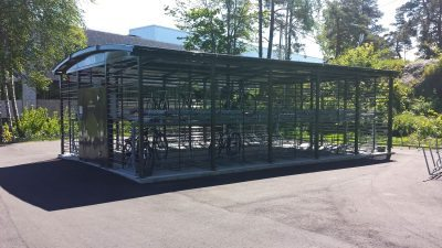 Sykkelparkeringshus Modulere 2 Etasjes. Universitetet i Agder