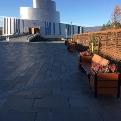 Alta miljøgate Rendez-Vous benk og avfallsbeholder og Optima plantekasse 640x640