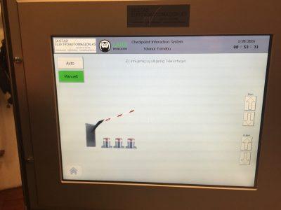 Telenor Fornebu PLS touchscreen pullerter og Magnetic bom