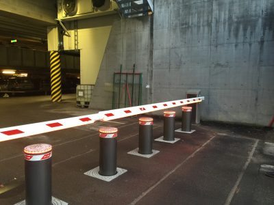 Telenor Fornebu automatisk XL bom og pullerter