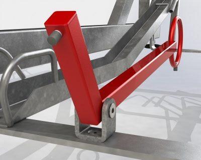 Ekstra låsesystem til ramme nedre plass