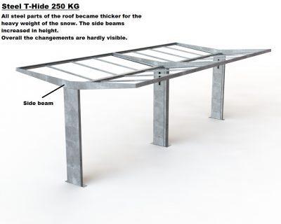Sykkelskur T-hide snølast forsterket til 250kg/m2