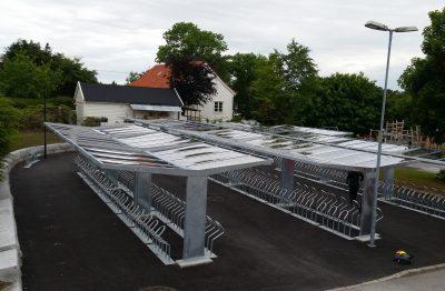 Sykkelskur T-hide Flora kommune