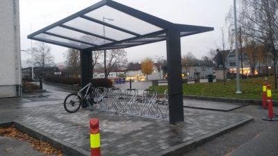 Sykkelskur T-hide Bø torg