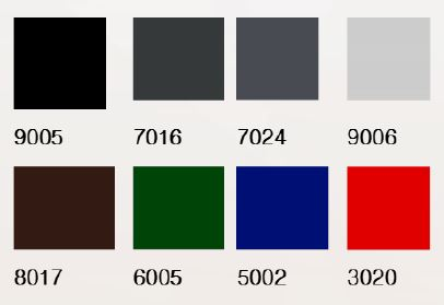 Standard RAL farger