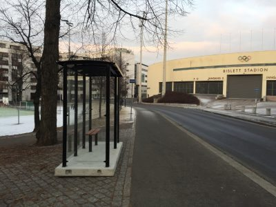 Busskur AluLine på Bislett stadion, Oslo