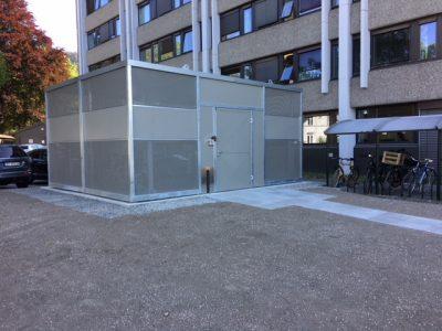 Sykkelhus Nomade 1 med ekstra modul for 40 plasser Drammen